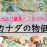 カナダの物価は高い?日本の生活費と比較。1年間滞在に必要な資金・費用
