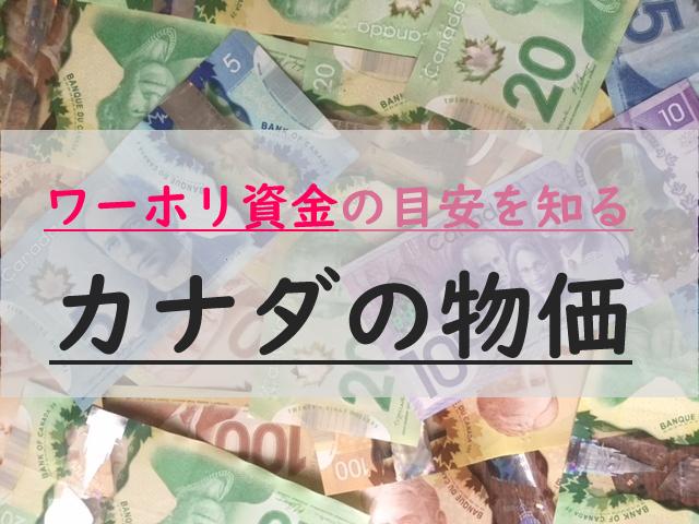 カナダの物価は高い?日本の生活費と比較。ワーホリに必要な資金・費用の目安